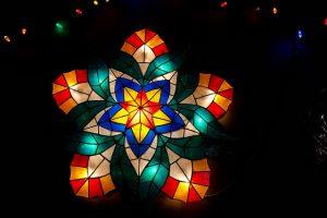 Colorful parol lantern